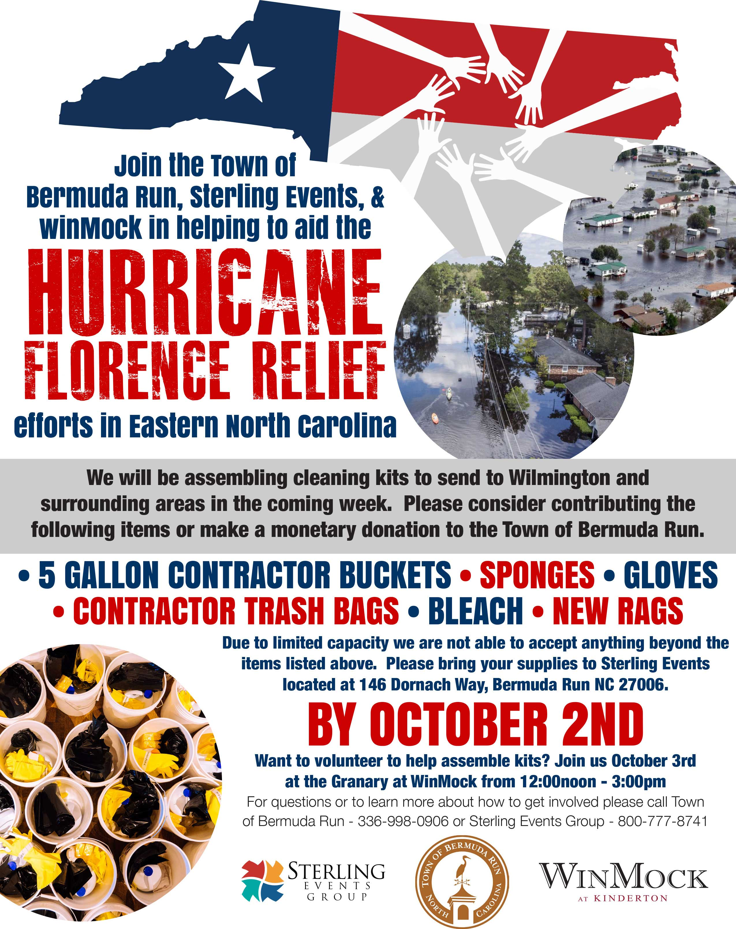 HurricaneRelief Flyer 9 18 Town of BR Sterling Events